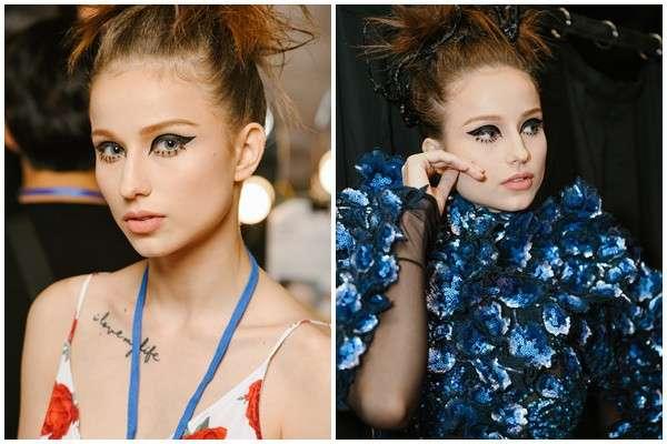 Hình ảnh concept mẫu được các Make Up Artists team Tina Lê thể hiện