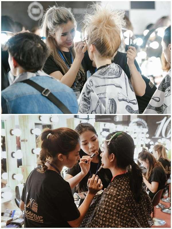 Các Make Up Artists cũng rất tích cực hăng say làm việc