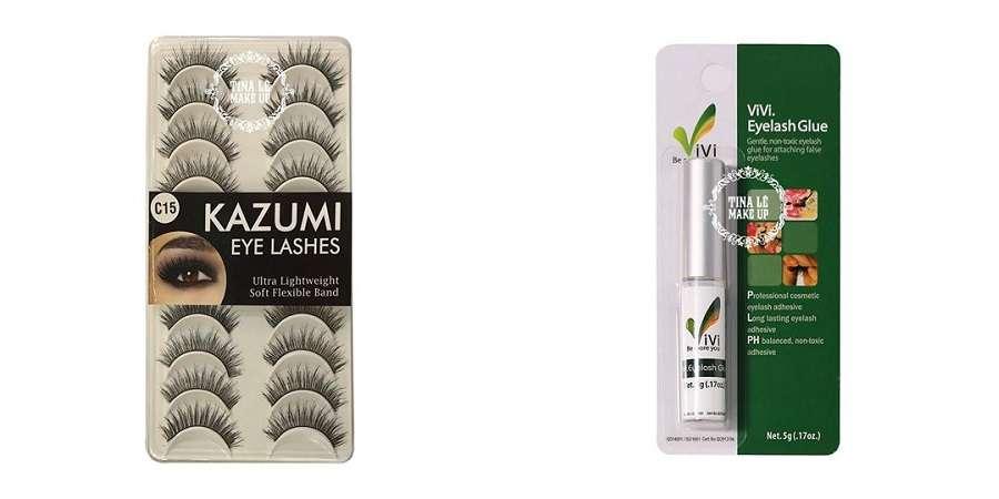 Combo mi giả Kazumi và keo dán mi giúp bạn có đôi mắt đẹp hút hồn