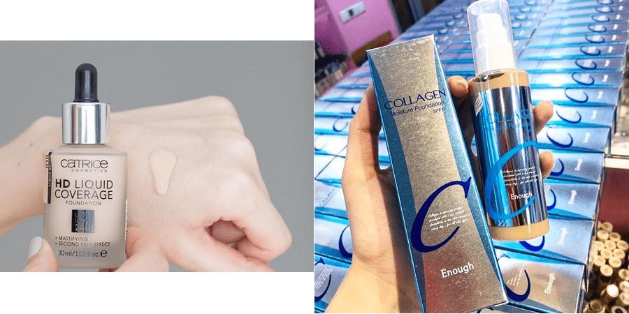 Hai loại kem nền cho da dầu và da khô dành cho các nàng thoải mái lựa chọn