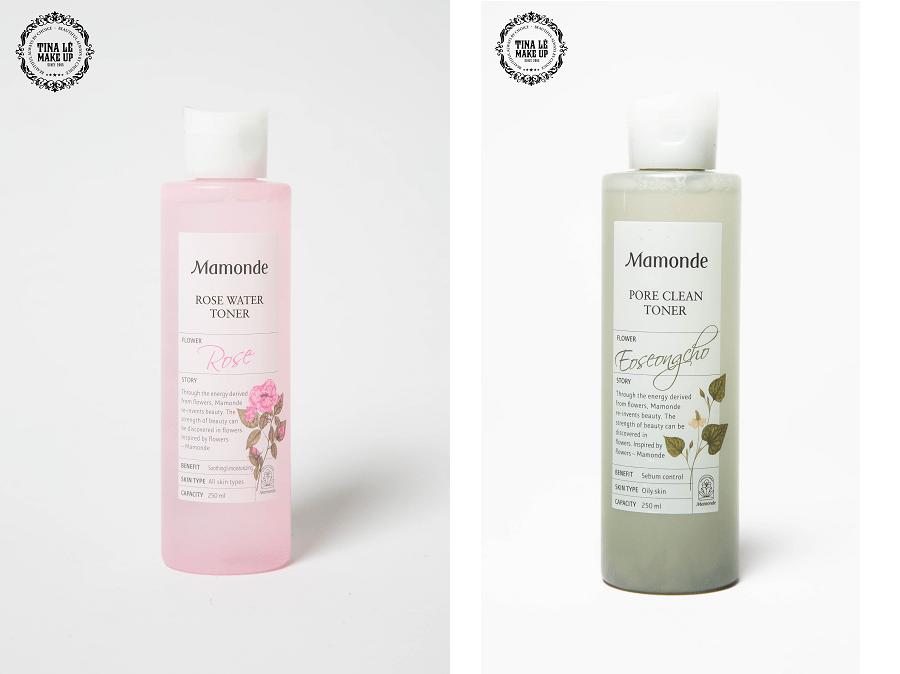 Các tone nước hoa hồng Mamonde cho da khô và da dầu