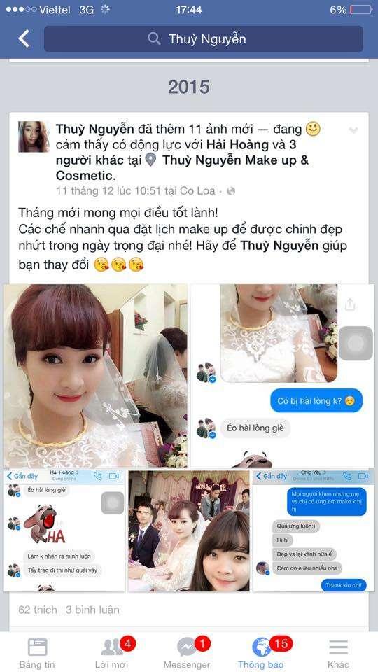 Một học sinh chuyên nghiệp của Tina Lê đang rất thành công với công việc make up
