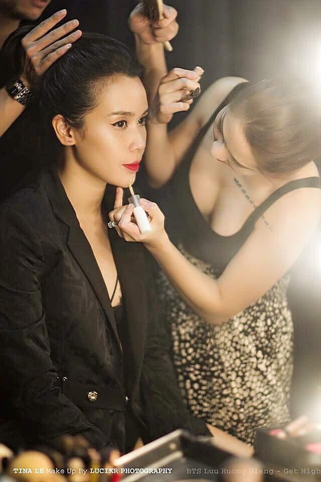 Tina Lê make up cho ca sĩ Lưu Hương Giang