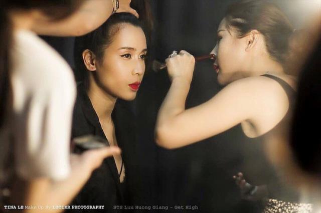 Tina Lê make up cho ca sĩ Lưu Hương Giang (1)
