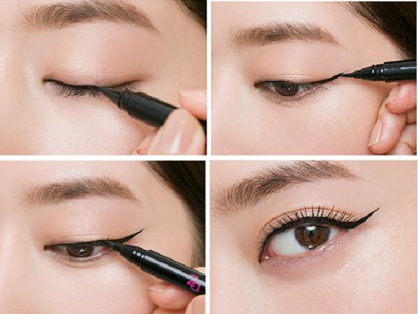 Kẻ mắt khéo léo hơn một chút sẽ giúp bạn có đôi mắt to tròn