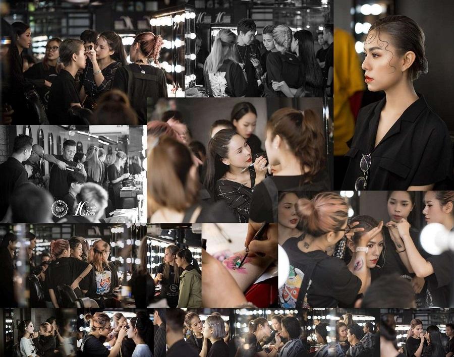 Đội ngũ Make Up Aritst tại buổi training do trực tiếp chuyên gia trang điểm Tina Le hướng dẫn