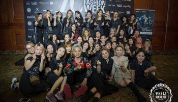 Team Tina Le tại buổi họp báo trước thềm Aquafina Vietnam International Fashion Week 2019