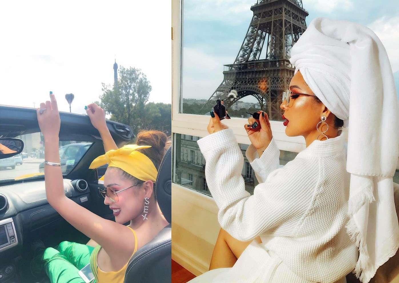 Chuyến du lịch đến Paris- thủ đô nước Pháp như một món quà mà Tina Lê tự thưởng cho mình sau một năm làm việc hết mình
